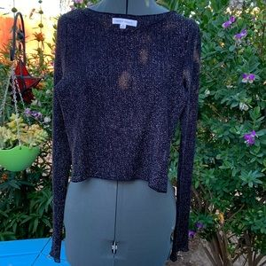 Sparkly Honey Punch Long Sleeve Top Size M EUC
